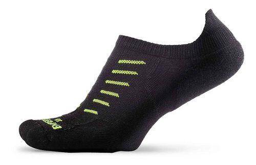 Thorlos Experia Thin Padded No Show Tab Socks - Black L
