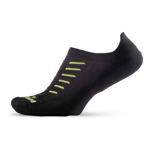 Thorlos Experia Thin Padded No Show Tab Socks - Black M