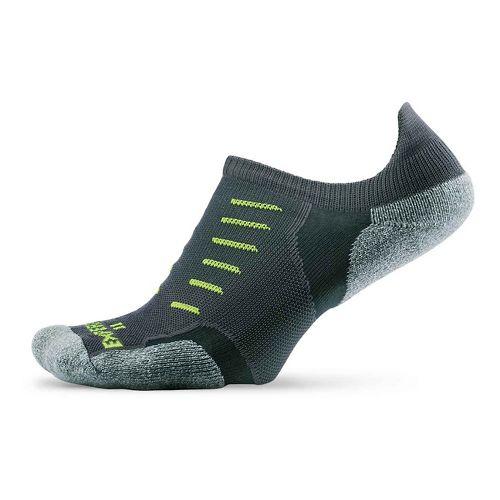 Thorlos Experia Thin Padded No Show Tab Socks - Grey M