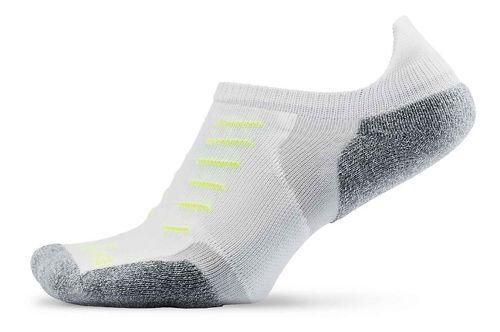 Thorlos Experia Thin Padded No Show Tab Socks - White S