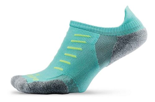 Thorlos Experia Thin Padded No Show Tab Socks - Spearmint M