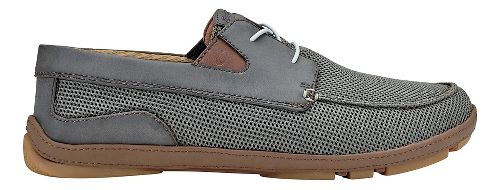 Mens OluKai Mano Mesh Casual Shoe - Charcoal/Toffee 8.5