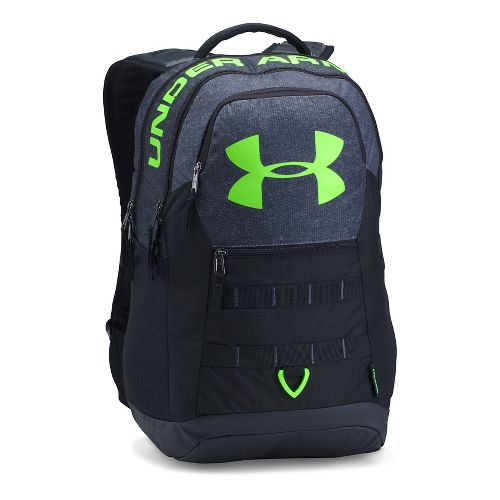 Under Armour Big Logo 5.0 Backpack Bags - Stealth Grey/Lime