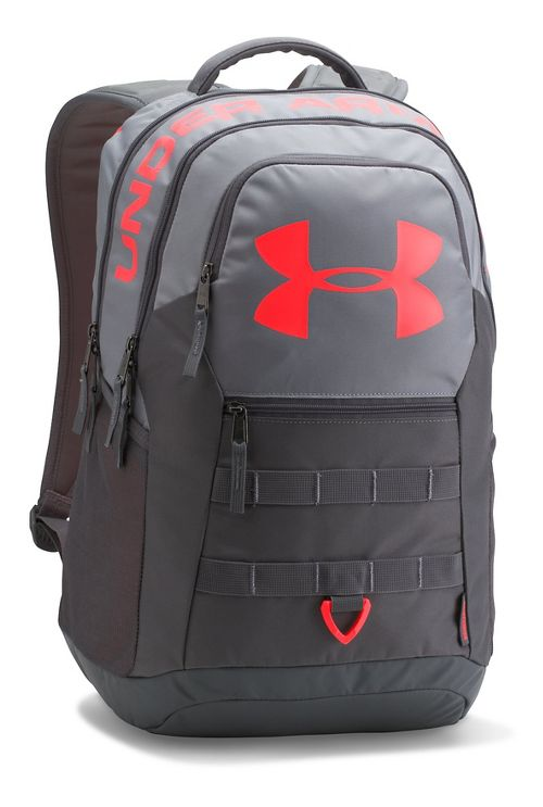 Under Armour Big Logo 5.0 Backpack Bags - Steel/Red