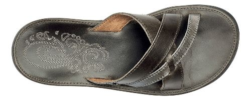 Womens OluKai Paniolo Slide Sandals Shoe - Charcoal/Charcoal 11