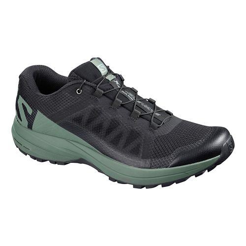 Mens Salomon XA Elevate Trail Running Shoe - Black/Green 7.5