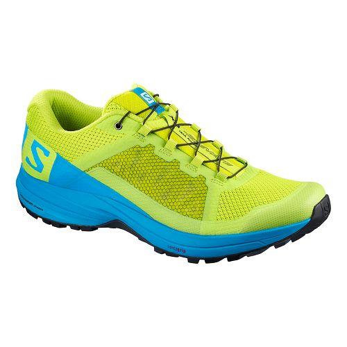 Mens Salomon XA Elevate Trail Running Shoe - Lime Surf Black 11.5