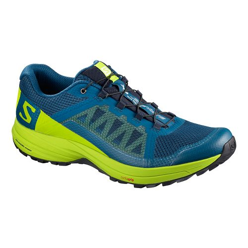 Mens Salomon XA Elevate Trail Running Shoe - Lime Green/Black 9.5