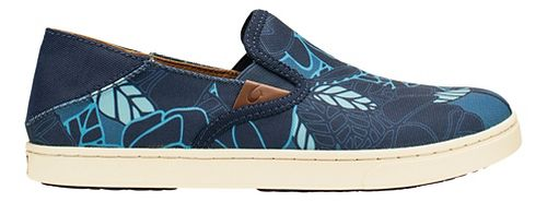 Womens OluKai Pehuea Print Casual Shoe - Trench Blue/Blue 5