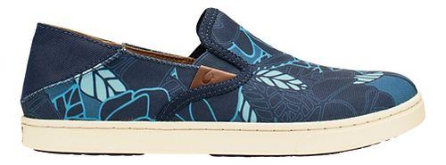 Womens OluKai Pehuea Print Casual Shoe - Trench Blue/Blue 7.5