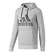 Mens adidas Essentials Cotton Pullover Logo Half-Zips & Hoodies Technical Tops