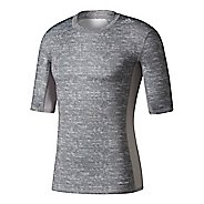 Mens adidas Techfit Base Short Sleeve Technical Tops