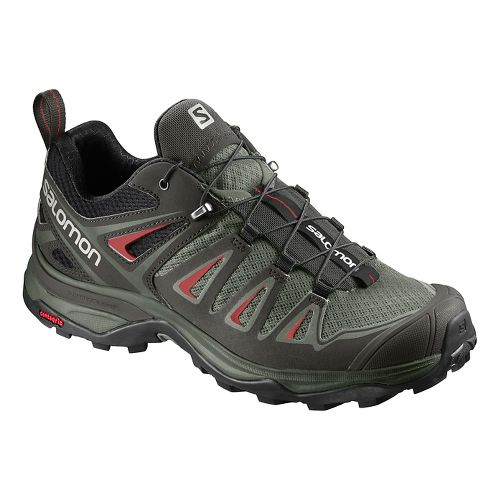 Womens Salomon X Ultra 3 Hiking Shoe - Grey/Red 12