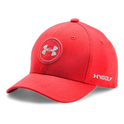 Under Armour Boys Jordan Speith UA Tour Cap Headwear - Red/Glacier Grey S/M