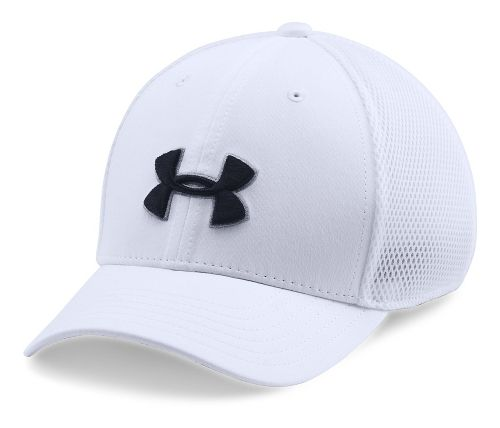 Under Armour Boys Classic Mesh Golf Cap Headwear - White/Black XS/S