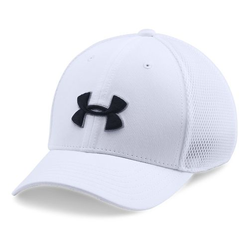 Under Armour Boys Classic Mesh Golf Cap Headwear - White/Black S/M