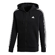 Mens adidas Essentials 3-Stripes Fleece Half-Zips & Hoodies Technical Tops