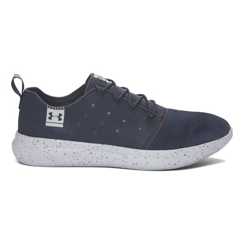 Mens Under Armour UA Charged 24/7 Low Suede Running Shoe - Grey/Aluminum 13