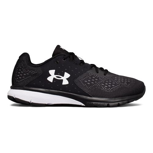Mens Under Armour Charged Rebel Running Shoe - Black/Black 11