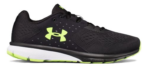 Mens Under Armour Charged Rebel Running Shoe - Black/Overcast Grey 11.5