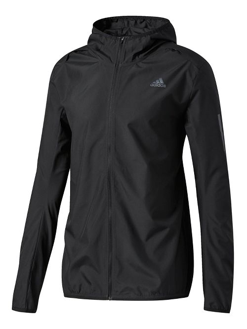 Mens adidas Response Hooded Wind Running Jackets - Black M