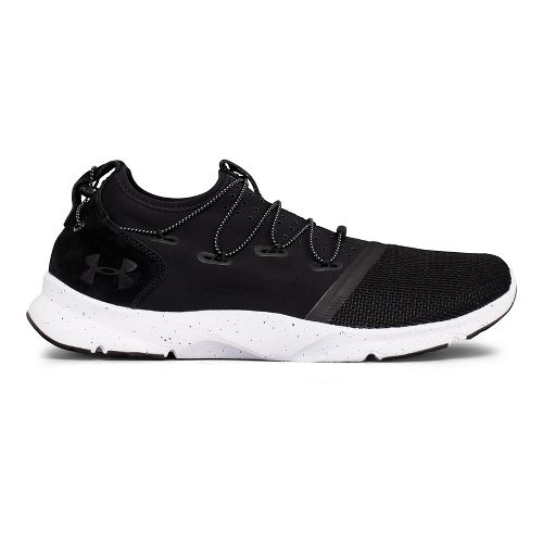 Mens Under Armour Drift 2 Running Shoe - Black/White 10