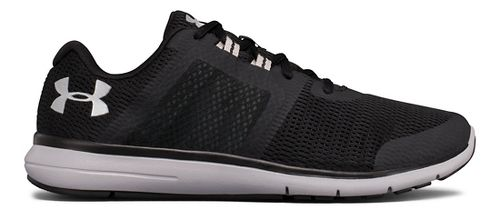 Mens Under Armour Fuse FST Running Shoe - Black/White 11.5