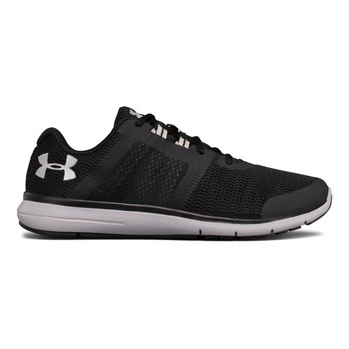 Mens Under Armour Fuse FST Running Shoe - Black/White 14