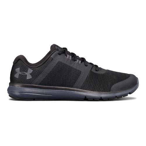 Mens Under Armour Fuse FST Running Shoe - Black/Anthracite 15