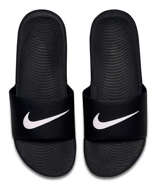 Mens Nike Kawa Slide Sandals Shoe - Black/White 8