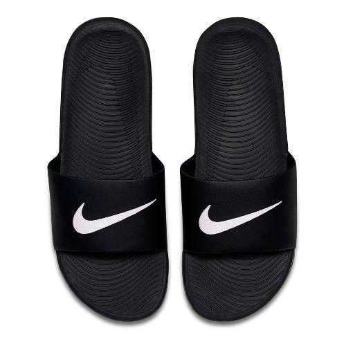 Mens Nike Kawa Slide Sandals Shoe - Black/White 12