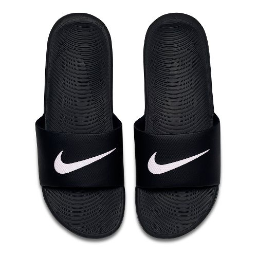 Mens Nike Kawa Slide Sandals Shoe - Black/White 8