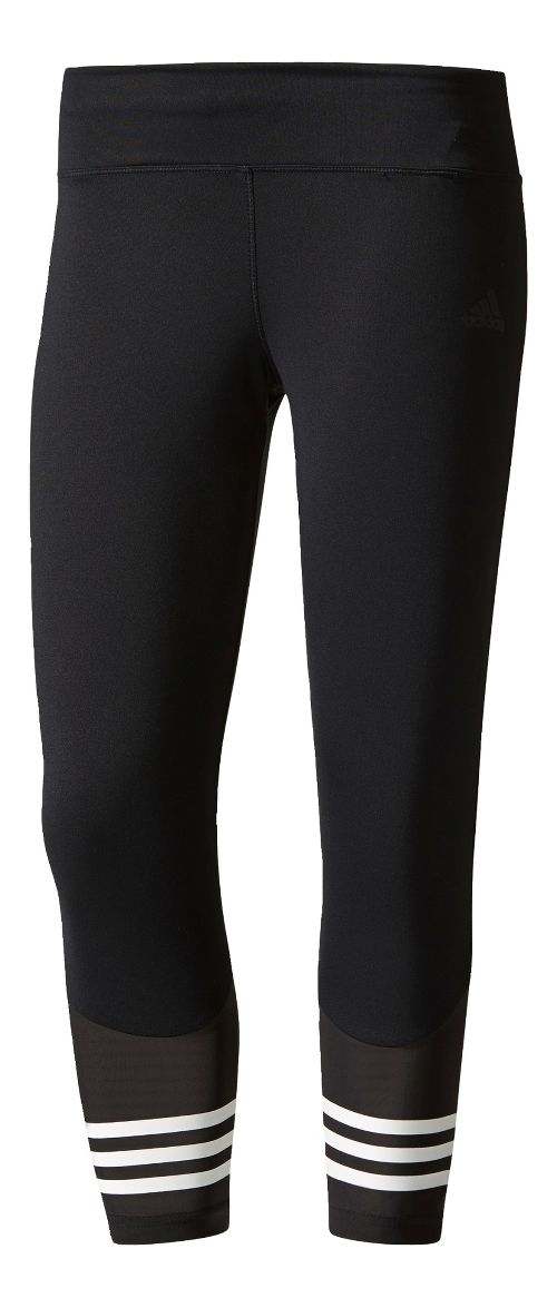 Womens adidas Designed 2 Move 3/4 Capris Tights - Black S