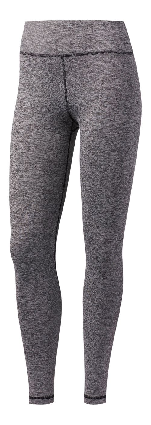 Womens adidas Performer High-Rise Tights & Leggings Pants - Black Heather XL