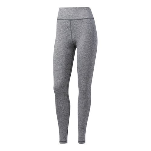 Womens adidas Performer High-Rise Tights & Leggings Pants - Grey Five Heather L