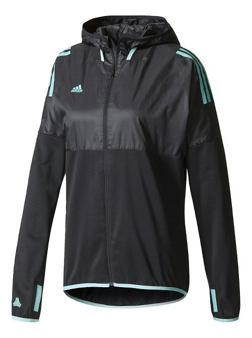 Womens adidas Tango Future Hybrid Casual Jackets - Black/Aqua XL