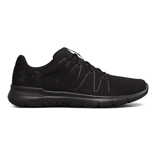 Mens Under Armour UA Thrill 3 Running Shoe - Black/Black 9.5