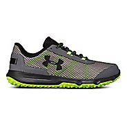 Mens Under Armour Toccoa Trail Running Shoe - Graphite/Hyper Green 9