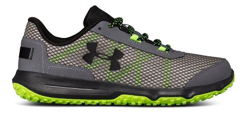 Mens Under Armour Toccoa Trail Running Shoe - Graphite/Hyper Green 8