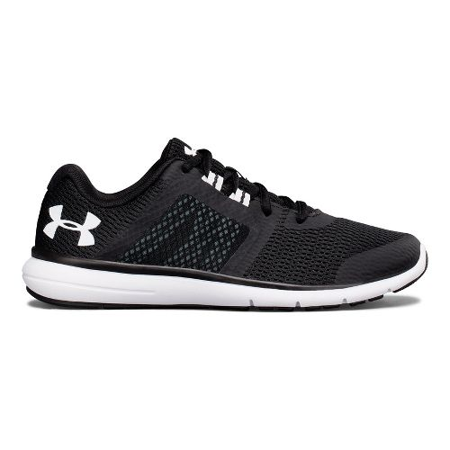Womens Under Armour Fuse FST Running Shoe - Black/White 10.5
