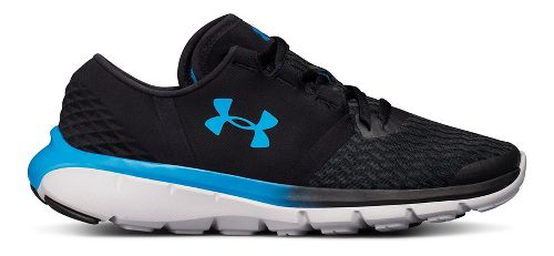 Womens Under Armour Quest Running Shoe - Black/Glacier Grey 10
