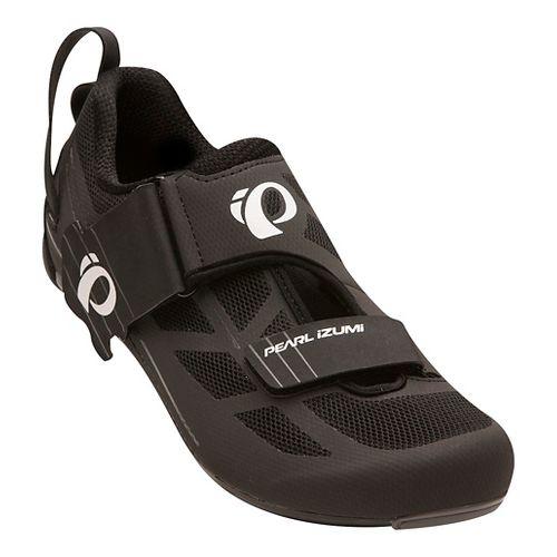Mens Pearl Izumi Tri Fly Select V6 Cycling Shoe - Black/Grey 6.5