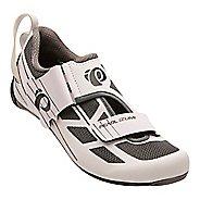 Womens Pearl Izumi Tri Fly Select V6 Cycling Shoe - White/Grey 10.5