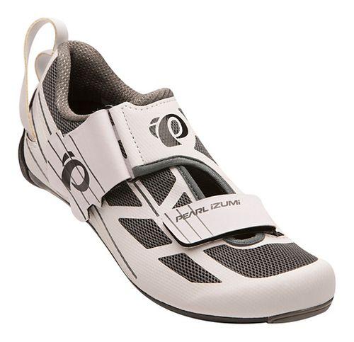 Womens Pearl Izumi Tri Fly Select V6 Cycling Shoe - White/Grey 9.5