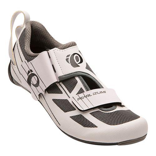 Womens Pearl Izumi Tri Fly Select V6 Cycling Shoe - White/Grey 7