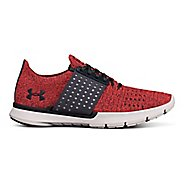 Womens Under Armour Speedform Slingwrap Running Shoe - Red/Grey 7.5