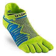 Injinji Ultra Run No Show CoolMax Socks - Lime L