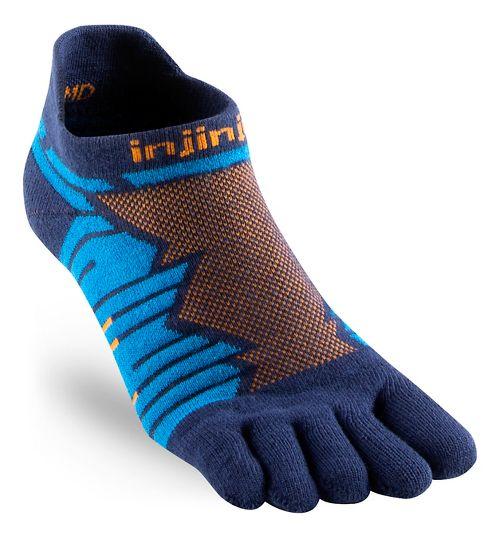 Injinji Ultra Run No Show CoolMax Socks - Blue M