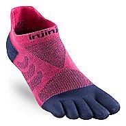 Womens Injinji Ultra Run No Show CoolMax Socks - Pink M/L