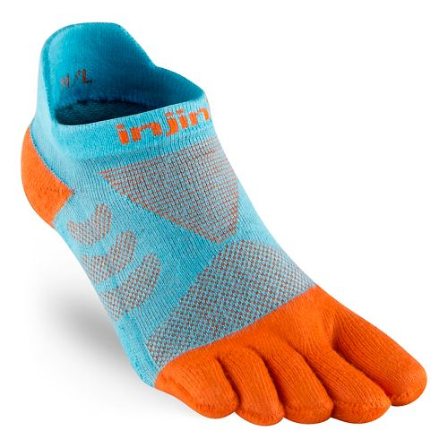 Womens Injinji Ultra Run No Show CoolMax Socks - Gills XS/S